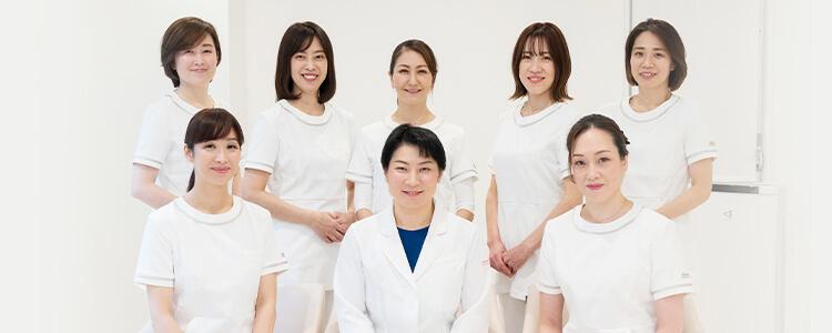 スタッフは全て女性です 安心してご相談ください 女性医師が丁寧に診察いたします